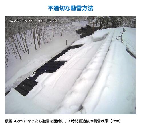 不適切な融雪方法